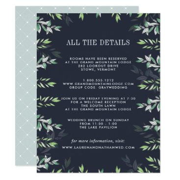 Beach Themed Winter Sage Guest Information Card