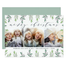Winter Sage | Holiday Photo Collage Card