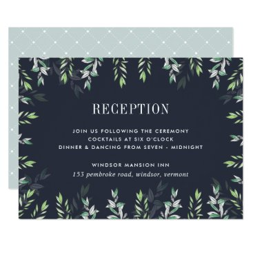 Beach Themed Winter Sage  RSVP Card
