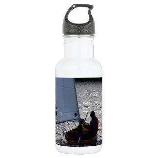Winter Sailboat Race 18oz Water Bottle