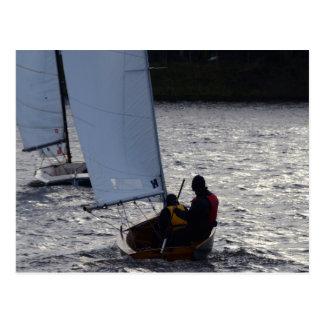 Winter Sailboat Race Postcard