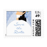 Winter Save the Date postage stamps