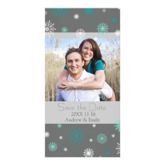 Winter Save the Date Wedding Photo Cards