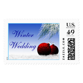 Winter Save The Dates Postage Stamp