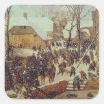 Winter Scene, 16th century Square Sticker