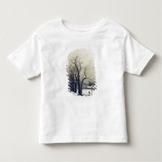 Winter scene, 19th century toddler t-shirt