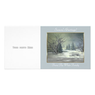 Winter Scene 2 Photo Card Template