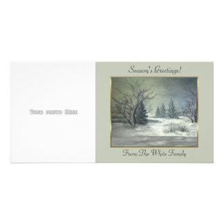Winter Scene 3 Photo Card Template