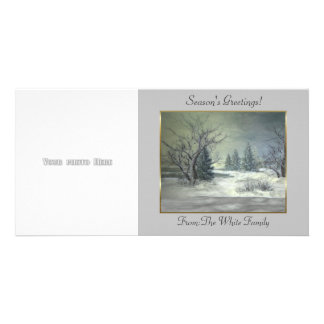 Winter Scene 4 Photo Card Template