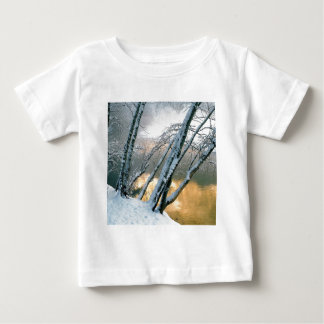 Winter Scene Alder Trees Merced River Morning Baby T-Shirt