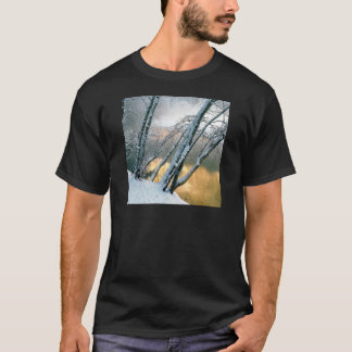 Winter Scene Alder Trees Merced River Morning T-Shirt
