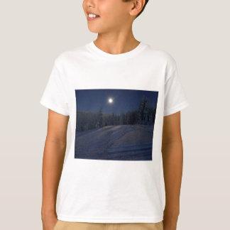 winter scene at night T-Shirt