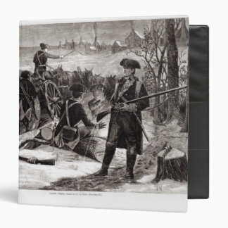 Winter Scene at the Continental Army Encampment Binder
