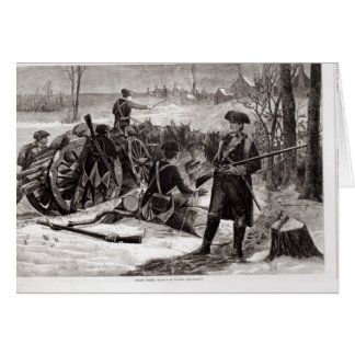 Winter Scene at the Continental Army Encampment Card