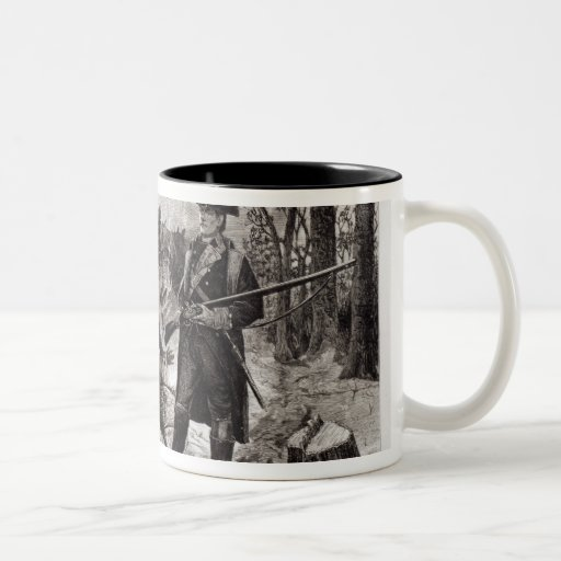 Winter Scene at the Continental Army Encampment Two-Tone Coffee Mug