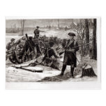 Winter Scene at the Continental Army Encampment Postcard