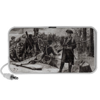 Winter Scene at the Continental Army Encampment iPod Speaker