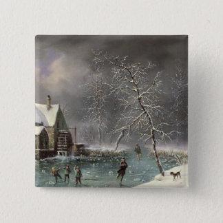 Winter Scene Button