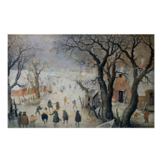 Winter Scene, c.1610 Poster