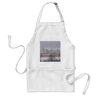 Winter Scene Cades Cove Great Smoky Mountains Adult Apron