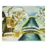 Winter scene, canals in the snow posters