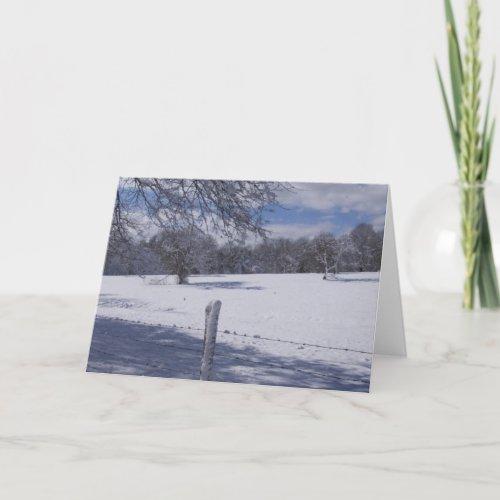 Winter Scene Card card