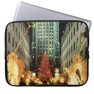 Winter scene, Christmas in New York Computer Sleeves