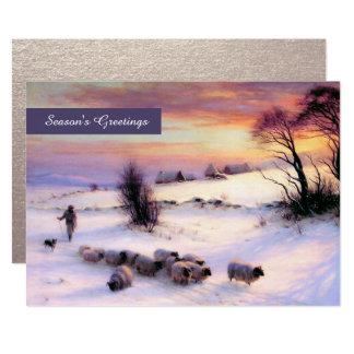 Winter Scene Fine Art Custom Flat Christmas Cards