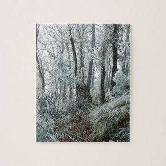Winter Scene Freezed Forest Jigsaw Puzzle