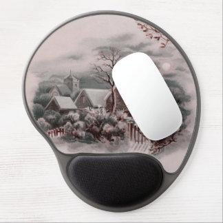 winter scene gel mouse pad