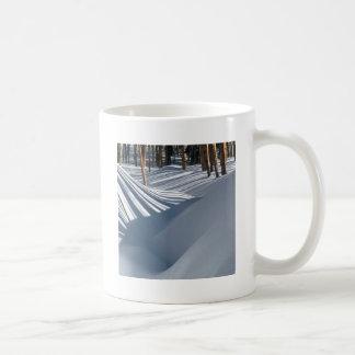 Winter Scene Golden Trees In The Snow Tesuque Coffee Mug