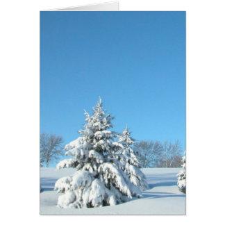 Winter Scene Greeting Card
