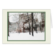 'Winter Scene' Holiday Card - Blank