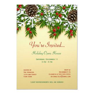Winter Scene Holiday Party Invitation