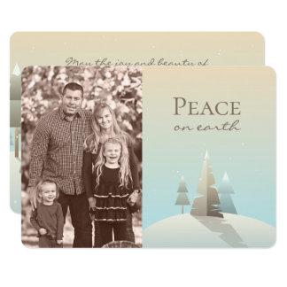 Winter Scene Holiday Photo Card