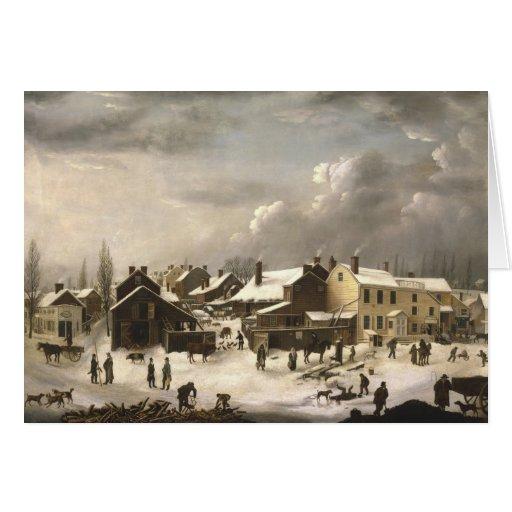 Winter Scene in Brooklyn Card