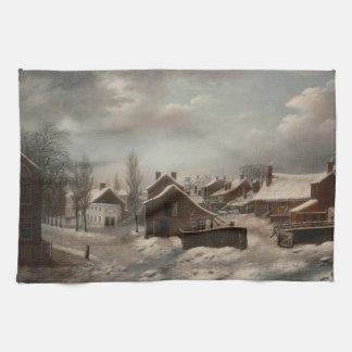 Winter Scene in Brooklyn - Francis Guy Kitchen Towels