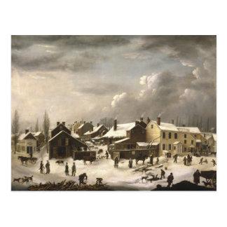 Winter Scene in Brooklyn Postcard