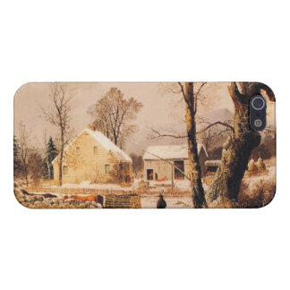 Winter Scene in New England by Durrie iPhone 5 Cover