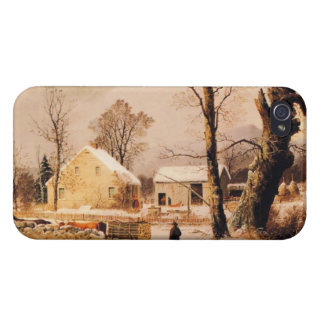 Winter Scene in New England by Durrie iPhone 4/4S Cases