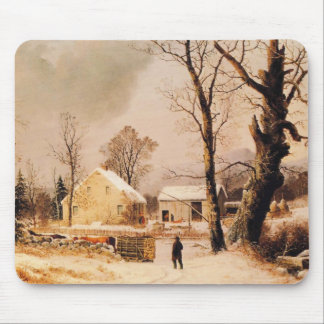 Winter Scene in New England by Durrie Mousepad