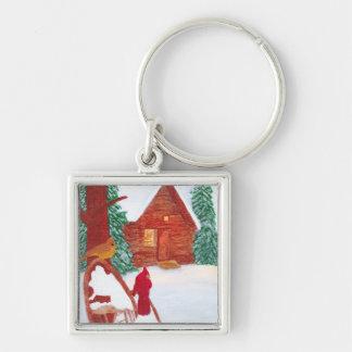 Winter Scene Keychain by KellyMDesigns