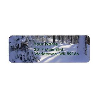 Winter Scene Return Address Label