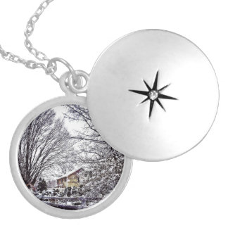 Winter Scene Locket Necklace