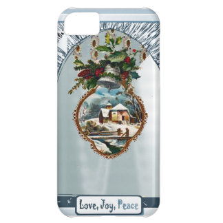 Winter scene, Love Joy Peace iPhone 5C Cover