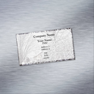 Winter Scene Magnetic Business Card