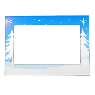 winter scene magnetic picture frame - Winter Picture Frames
