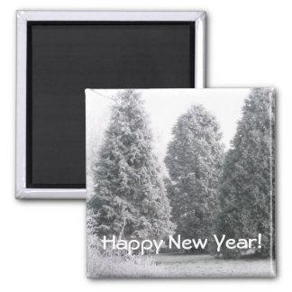 Winter scene magnets