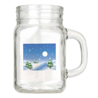 Winter Scene Mason Jar