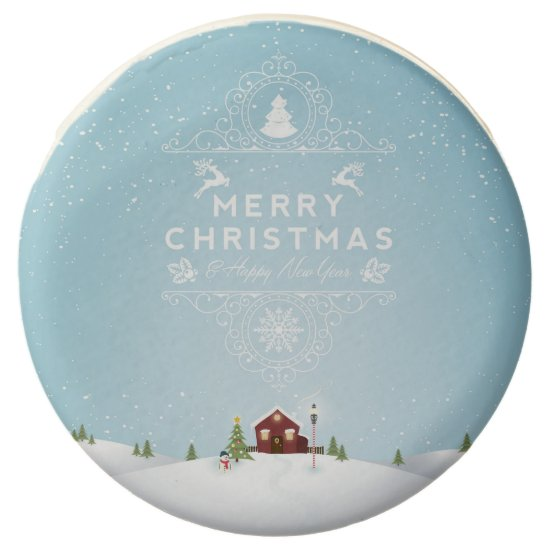 Winter Scene - Merry Christmas Chocolate Dipped Oreo